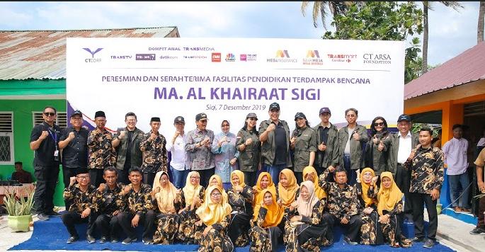 Chairul Tanjung resmikan sekaligus serah terimakan fasilitas pendidikan dan rumah ibadah terdampak gempa dan tsunami Sulawesi Tengah