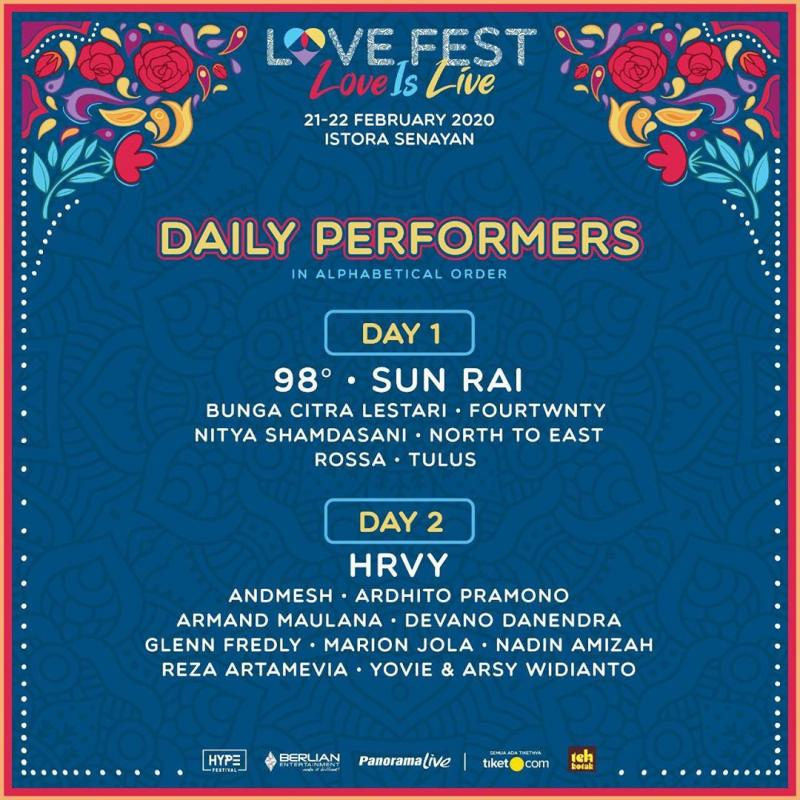 Valentine dari Hype Festival bersama Berlian Entertainment dan Panorama Live