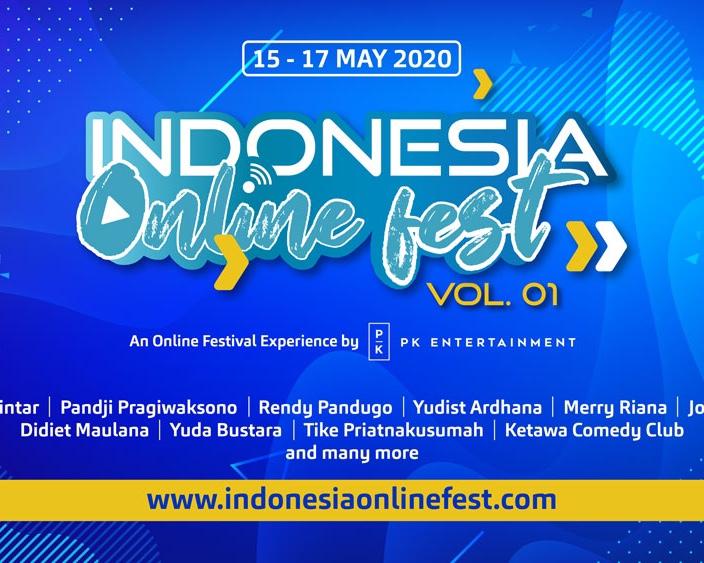 INDONESIA ONLINE FEST 2020 FESTIVAL DARING TERBESAR DI INDONESIA