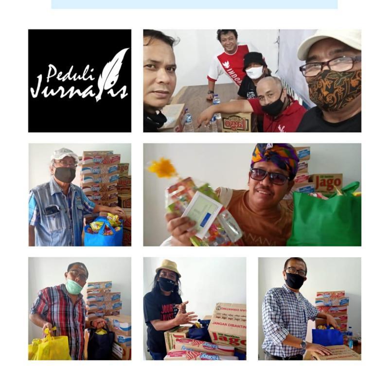 Gerakan Peduli Jurnalis Salurkan Paket Sembako Tahap 5