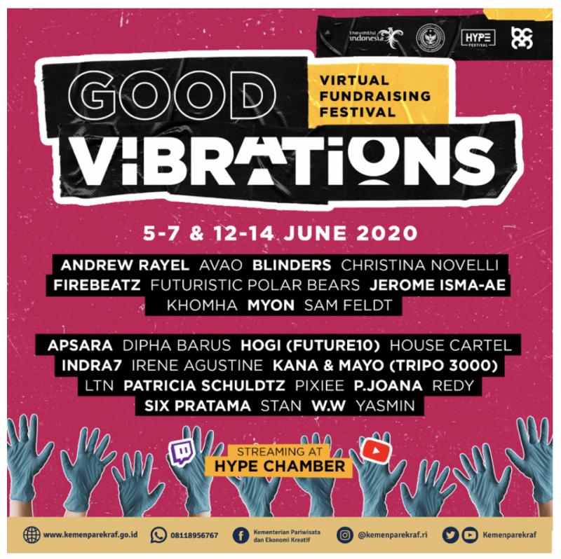 Festival musik elektronik daring pertama Indonesia dengan menampilkan 27 DJ Internasional