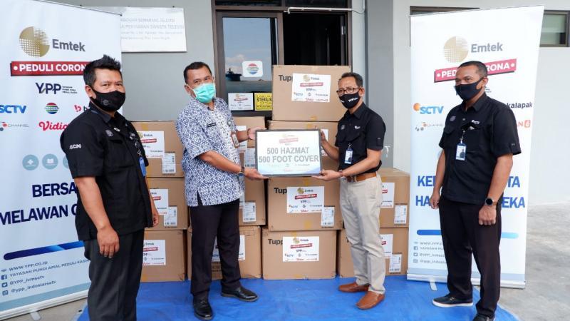 EMTEK PEDULi CORONA Serahkan Bantuan Kepada Gubenur Jawa Tengah  1.000 Paket Alat Pelindung Diri dan 100.000 Masker Kain