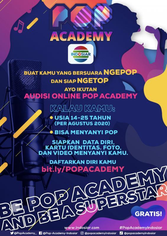 POP ACADEMY, TALENT SEARCH TERBARU DARI INDOSIAR Audisi Online Untuk Bakat Indonesia Bersuara Emas