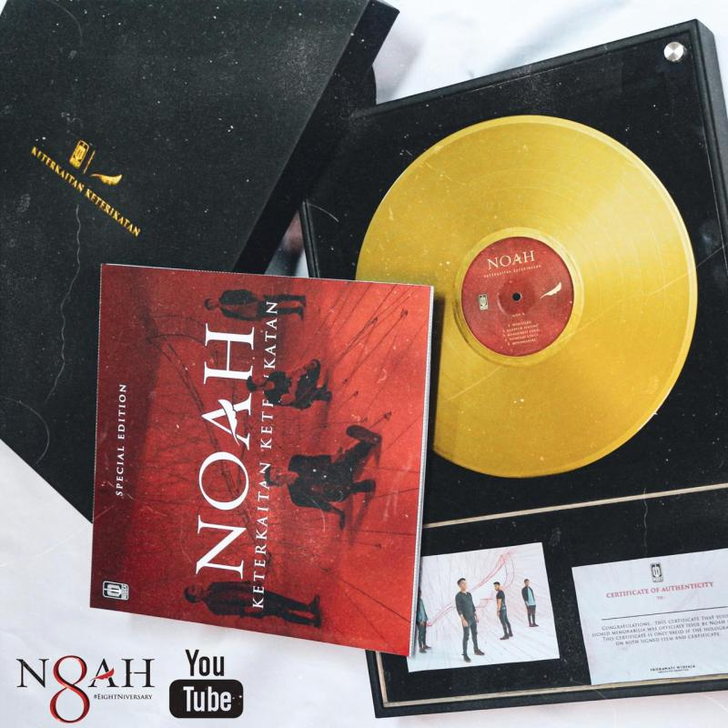 8 Tahun Berkarya, NOAH Lelang Vinyl Special Gold Edition