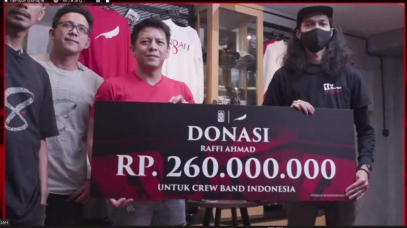 700 JUTA RUPIAH, DONASI YANG TERKUMPUL DARI NOAH UNTUK CREW BAND INDONESIA