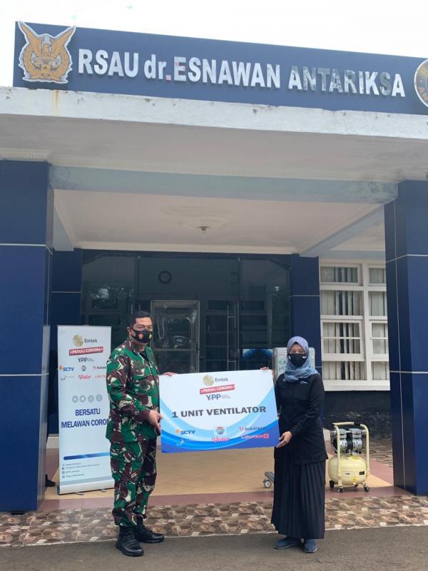 EMTEK PEDULI CORONA KEMBALI MENYALURKAN BANTUAN VENTILATOR Rumah Sakit di Jakarta