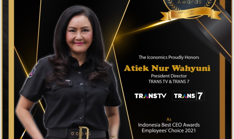"CEO TRANS TV dan TRANS7 RAIH PENGHARGAAN INDONESIA BEST CEO AWARDS 2021""EMPLOYEES' CHOICE"""