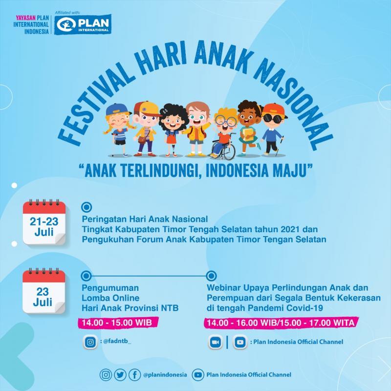 Peringati Hari Anak Nasional, Plan Indonesia Serukan Perlindungan Anak untuk Indonesia Maju